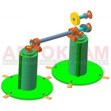Косарка до мототрактора роторна з гідроциліндром КР-1.1-В