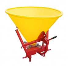 Розкидач мінеральних добрив на мінітрактор Jar-Met (лійка 300 л пластик)