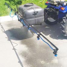 Опрыскиватель на мототрактор 130 литров 1 точка крепления (штанга 4 метра)