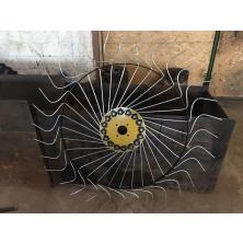 Грабли сеноворошители Солнышко на мототрактор 3 колесные