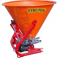 Разбрасыватель удобрений Strumyk 500 л. (пластик, диск из нержавейки) на трактор