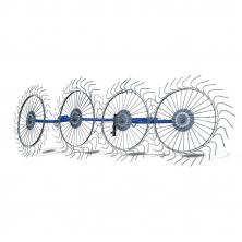 Грабли ворошилки на мотоблок 4-х колесные Солнышко AGROLUXE (79002)
