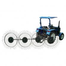 Грабли на минитрактор 4-колесные ворошилки Солнышко ГР6