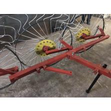 Грабли ворошилки для минитрактора Солнышко 3 колесные