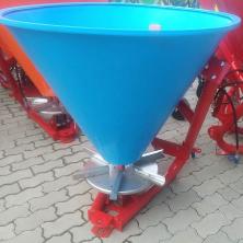 Розкидач мінеральних добрив на мінітрактор Jar-Met (лійка 200 л пластик)
