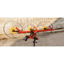Грабли ворошилки Солнышко для минитракторов на 3 колеса, спица 6 мм (ГСТ6-3)