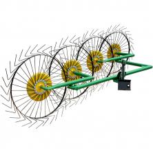 Грабли для мотоблока ворошилки 4-х колесные ГВР-4