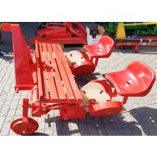 Машина для висаджування розсади для мінітрактора 2 рядна